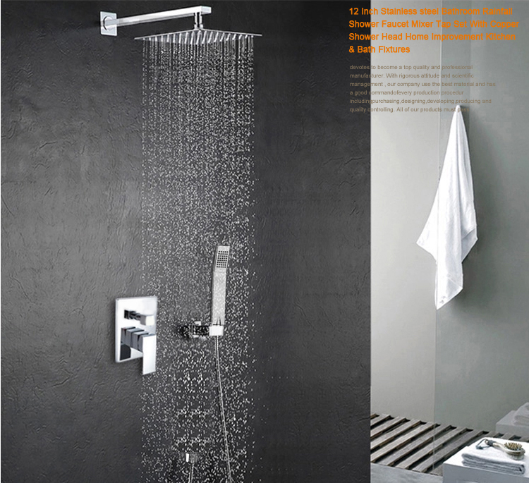 "4 Kinds LED 8/""//10/""//12/""//16/"" Bathroom Rain Shower Head Hand Spray Tub Spout Faucet"