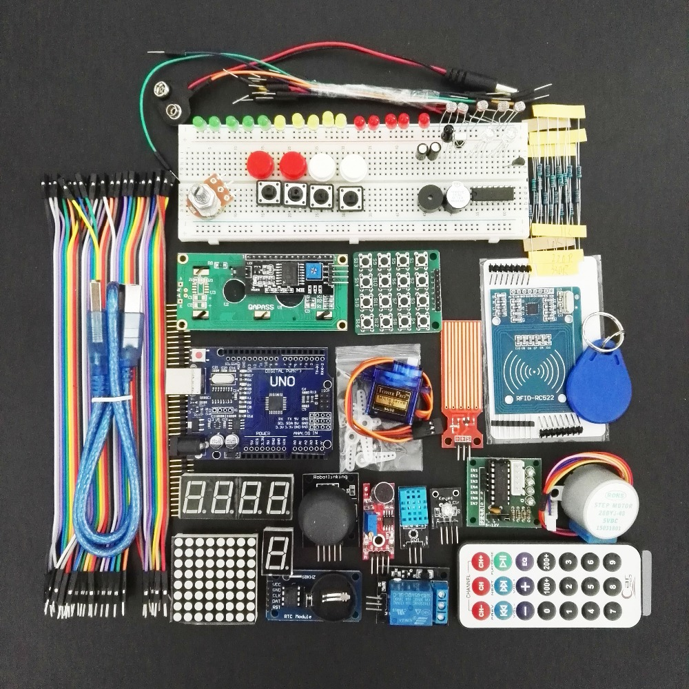UNO R3 KIT Upgraded version of the For- Starter Kit the RFID learn Suite Stepper Motor + ULN2003 Best prices &Free shiping