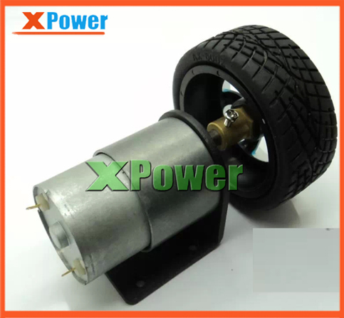 Wholesale 37mm diameter 12v 180rpm 5kg.cm Gear Motor + Mounting Bracket Shaft Coupling+Screw +Tire For DIY Toy Car Use