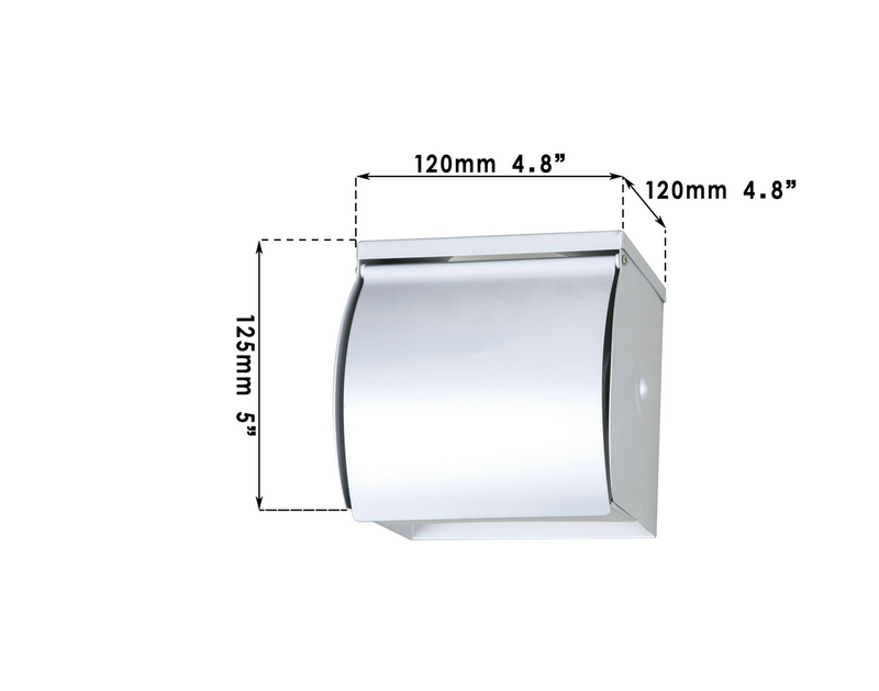 e-pack HelloNew Lavatory /Toilet Paper Holder suporte de papel CZJ5105 Wall Mounted Stainless Steel Tissue Box Chrome Polished