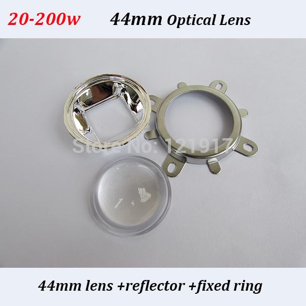 Secondary optical led lens and reflector for 20w-200w integrarted high power led