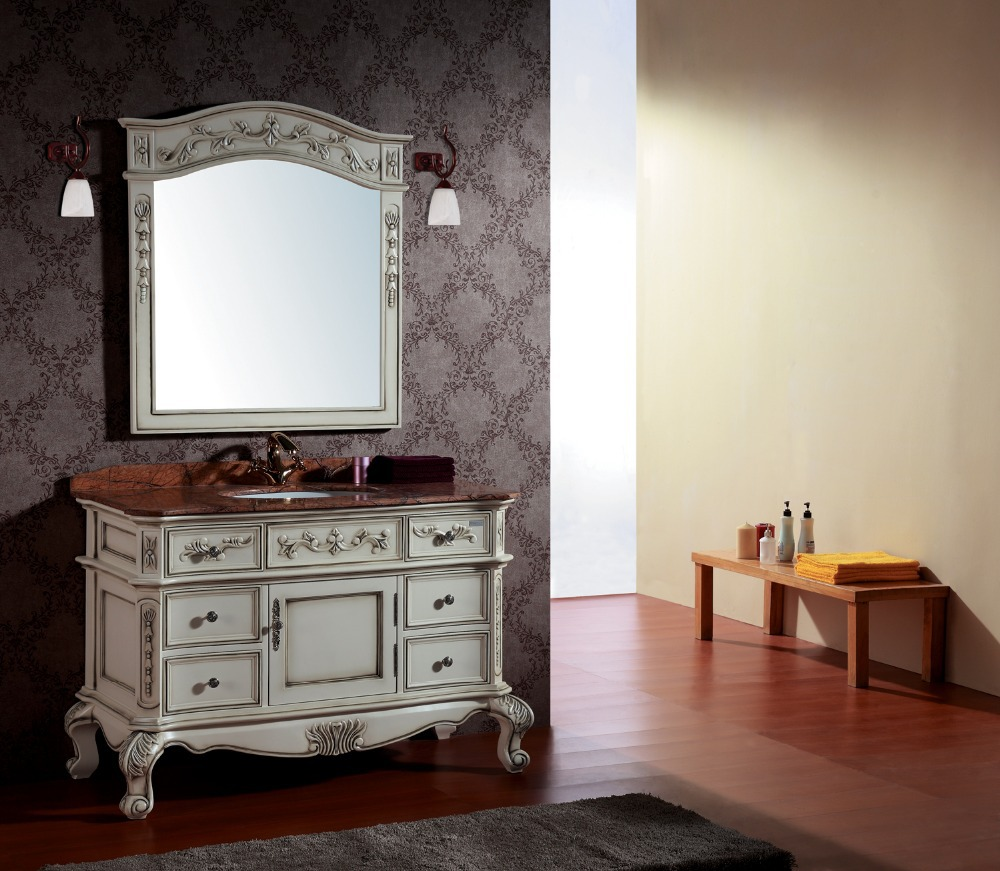 bathroom cabinet with classical luxury design