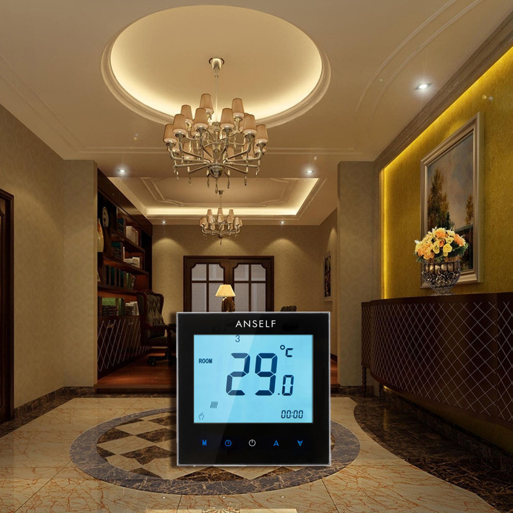 Thermoregulator Touch Screen Heating Thermostat for Warm Floor, Water, Electric Heating System Temperature Controller