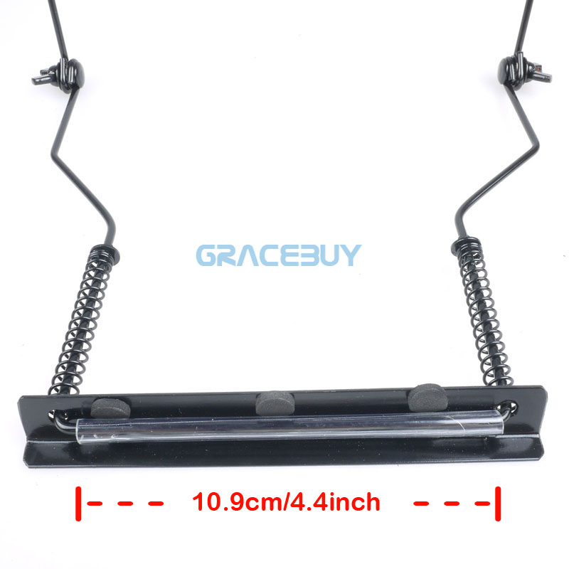 10 Holes Harmonica Neck Holder Adjustable Mouth Organ Stand Harmonica Harp Rack -Metal black New