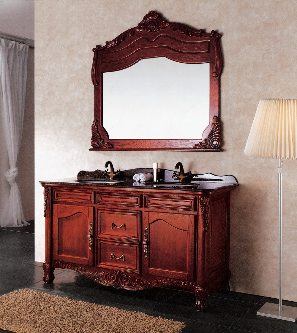 classical double sink bathroom vanity