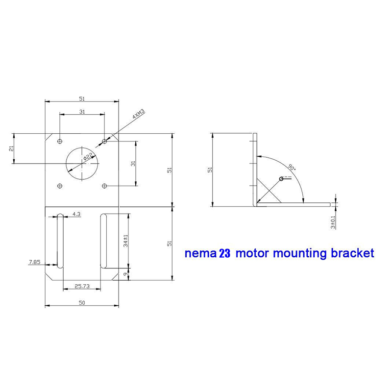 3pcs Stepper motor NEMA 23 motor Mounting L Bracket Mount for nema23 Motor with 3sets mounting screws C002#3A