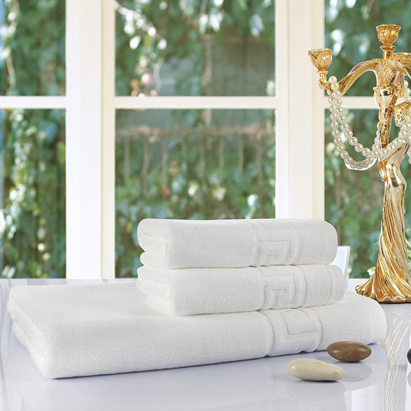 ROMORUS Luxury 5 Star Hotel White Towels 100% Quality Cotton 3 pcs Towel Sets for Adults with 35*76cm Face 75*140cm Bath Towels