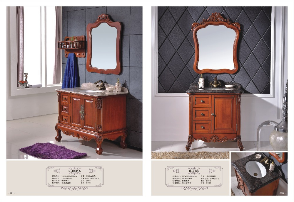 Fashional design soild wood bathroom set cheap bathroom vanity