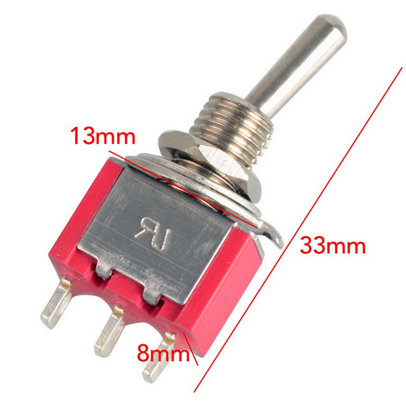 2A 250V/5A 120V Waterproof Switch Cap On-On Miniature Toggle Switches  VE189 P30
