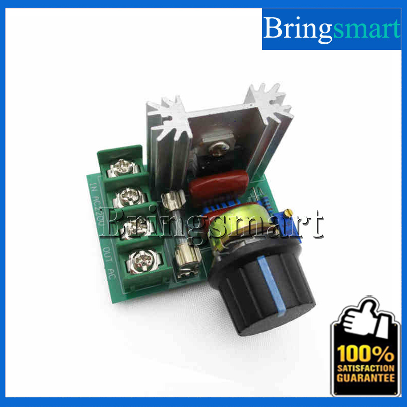 Bringsmart Wholesale 2000W SCR Electronic Voltage Regulator Speed Control Controller With Fast Melt Insurance
