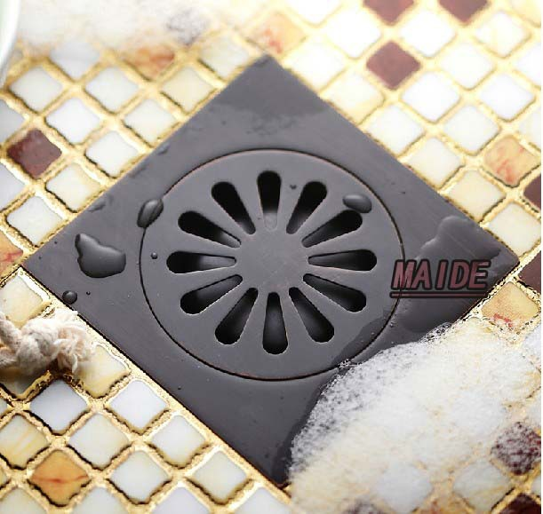 NEW Oil Rubbed Bronze Floor Drain Bathroom Shower Floor Drain Grate Waste Drain