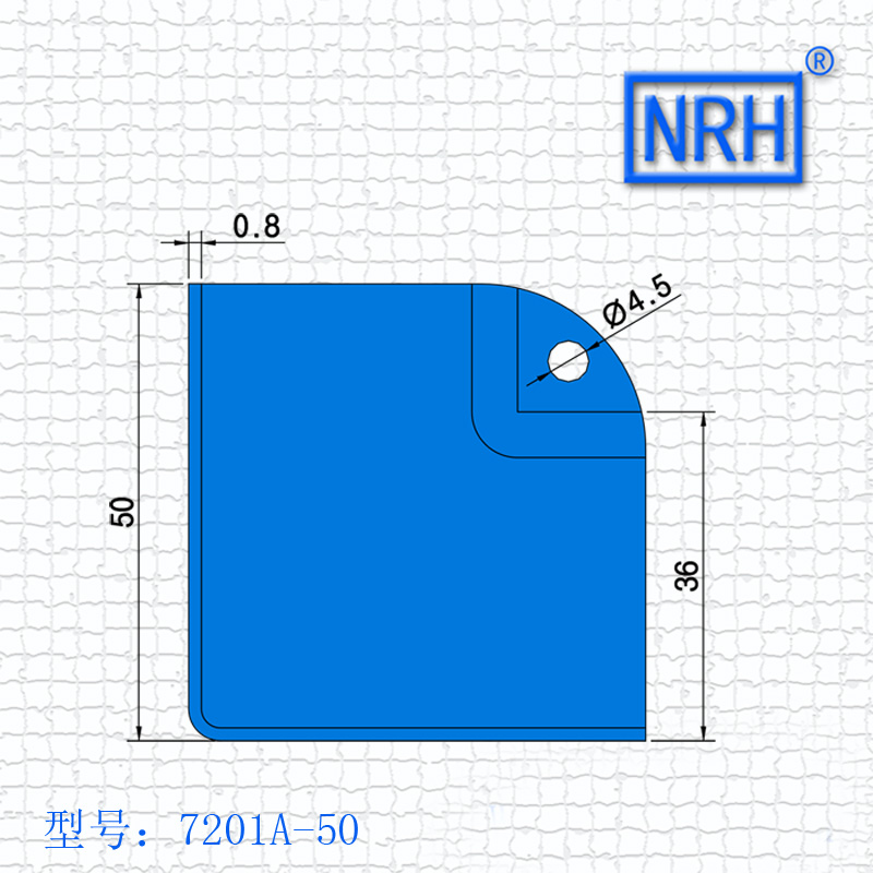 NRH 7201A steel corner Protector amplifier corner high quality Angle bead performance equipment case cornerite chrome finish
