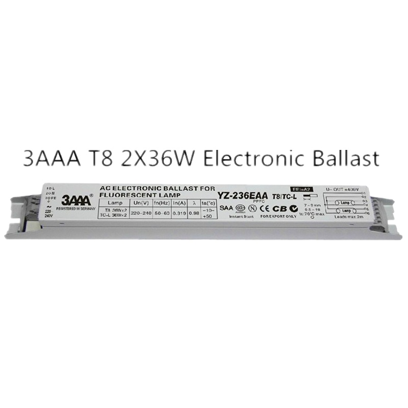 1 piece 3AAA YZ-236EAA 220-240V 2x36W 2x40W L290D Neon Lamp / Fluorescent Lamp T8 Electronic Ballast