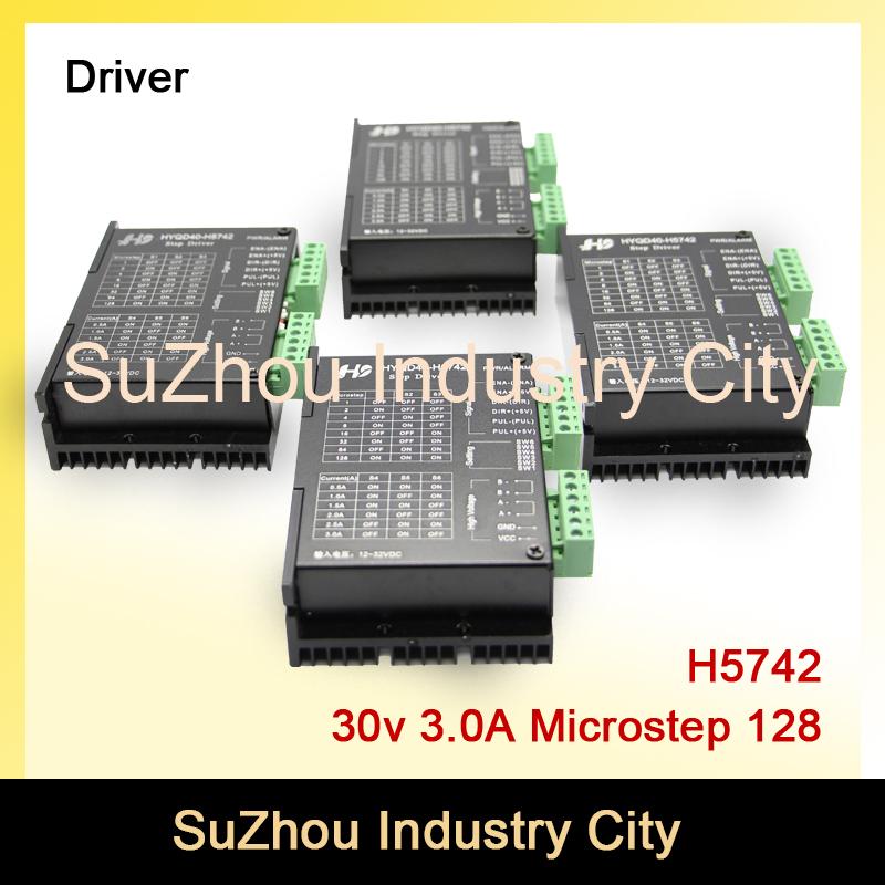 4pcs 3A 12-32VDC 128 Microstep CNC Stepper motor Driver H5742