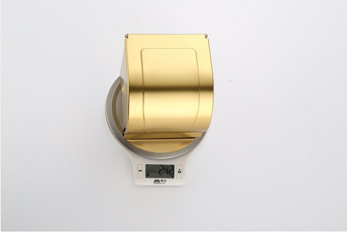 gold  paper holder bathroom tissue box waterproof stainless steel toilet paper box toilet paper box toilet paper holder