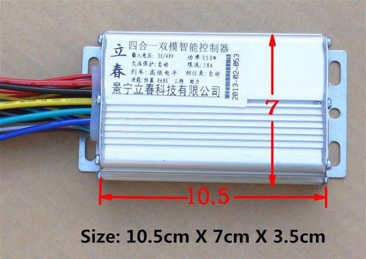 350W 36V/48V  DC 6 MOFSET brushless controller, BLDC motor controller / E-bike / E-scooter / electric bicycle speed controller