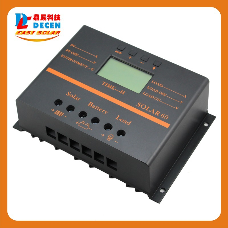 MAYLAR@ Solar60  60A  LCD PV panel Battery Charge Controller 12V 24V Solar system Home indoor 5V usb solar charge controller
