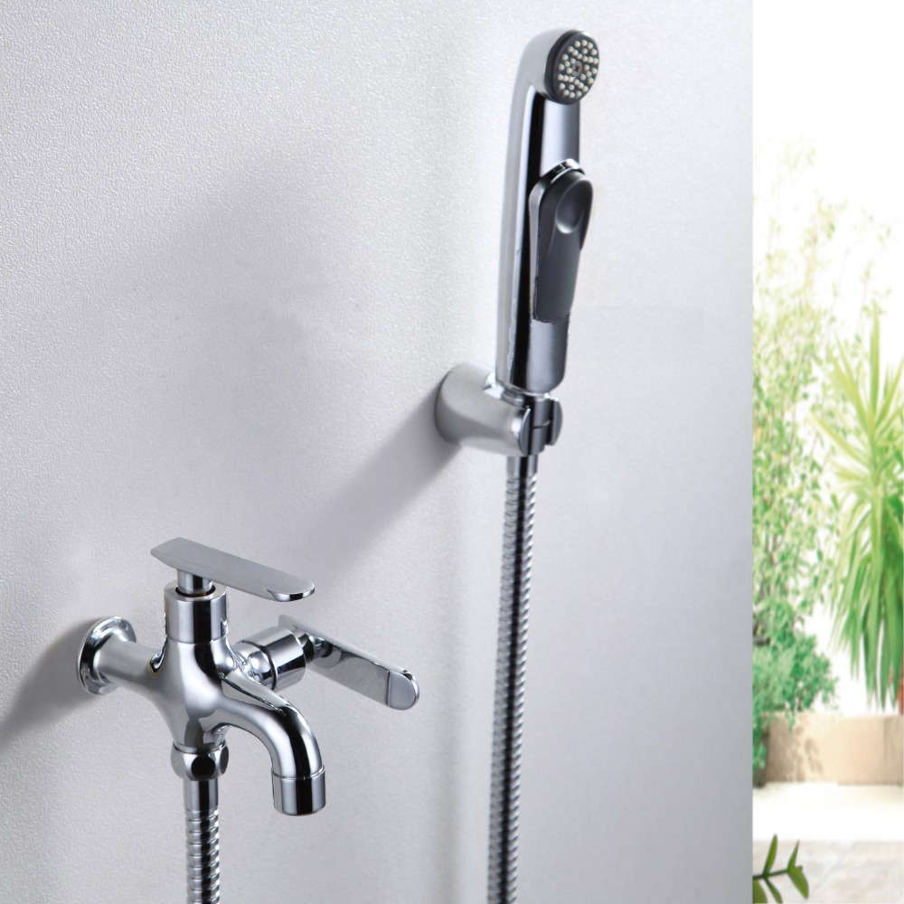 Brass Toilet Bathroom Handheld Bidet Sprayer Diaper Shower Shattaf