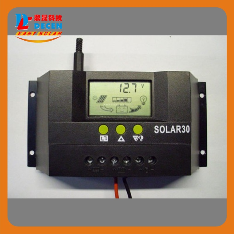 Solar30  30A  LCD Solar Charge Controller 12V 24V PV panel Battery Charger Controller Solar system Home indoor use 2014 New