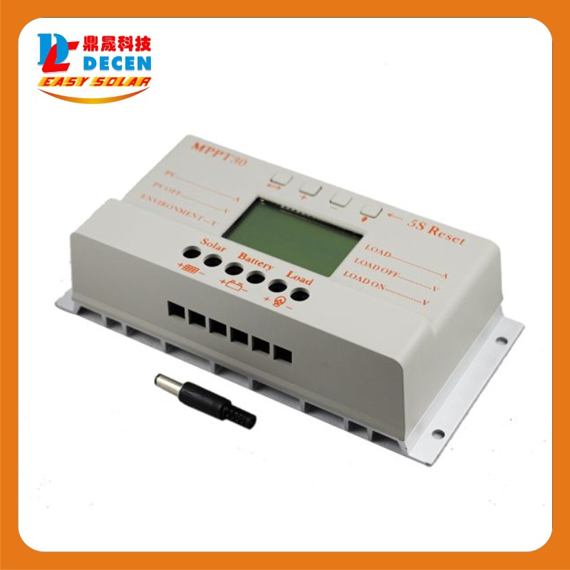 MAYLAR@ MPPT30  30A  solar charge controller 12V 24V auto work with lcd display wholesale