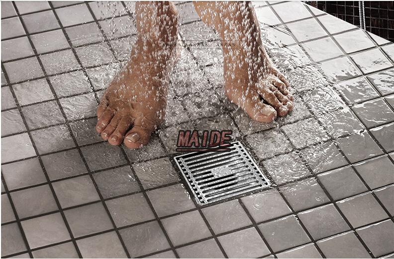 4 inch 100*100mm 304 Stainless Steel Floor Drain Bathroom shower ...
