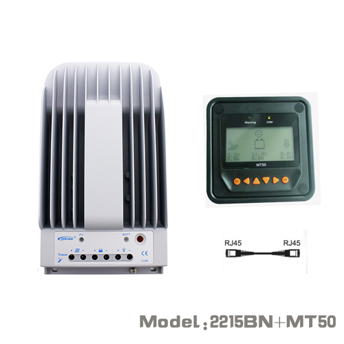 20A 12V 24V New Tracer 2215BN 20amps Programmable MPPT Solar Charge Controller with MT50 LCD display Remote meter