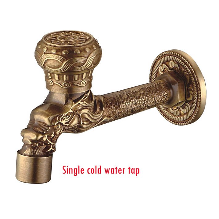 Garden Antique Plate Bathroom Washing Machine Tap Laundry Mop Pool Cold Water Bibcock bathroom faucet Bath tap