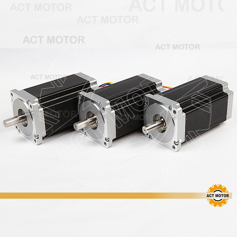 ACT CNC Router 3PCS Nema34 Stepper Motor 34HS5460 Single Shaft 1700oz-in 151mm 6A+3PCS Driver DM860 7.8A 80V  US DE UK JP Free