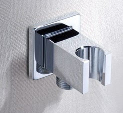 Modern Shower Faucet Connector Holder Hook Pedestal Bracket Brass Chrome Polish In Wall Toilet bidet Shattaf Bathroom Furniture