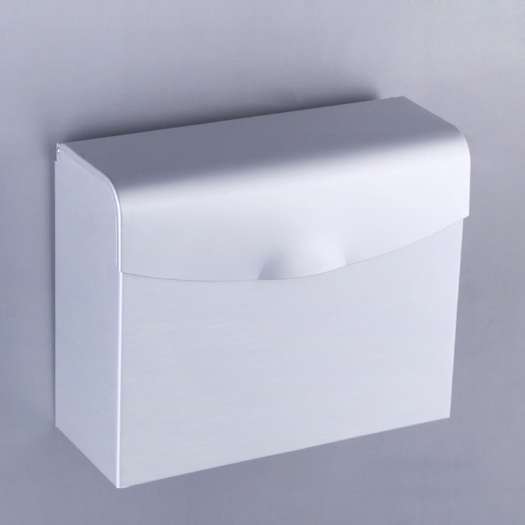Square Stainless Steel Chrome Toilet Paper Tissue Roll Holders Box Cover In Wall Bathroom Shower Accessories Products B-10