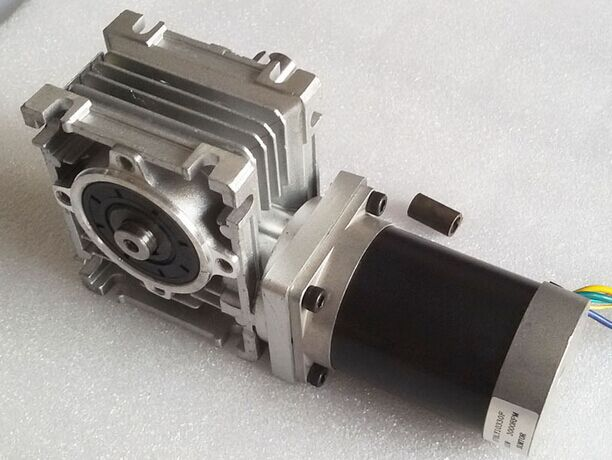 57mm Worm Gearbox Geared Stepper Motor Ratio 15:1 NEMA23 L 112mm 4.2A