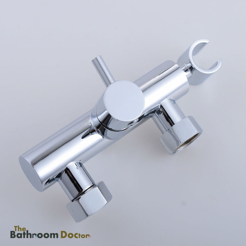 Square Handheld Bidet shattaf sprayer with Hot & Cold mixer valve Tap, Soild Brass 02-199