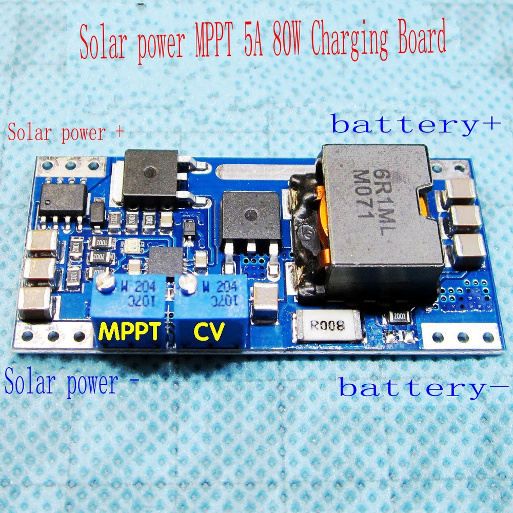 BQ24650 MPPT Solar Panel Lithium Lead-acid Battery Charging Board Controller 5A