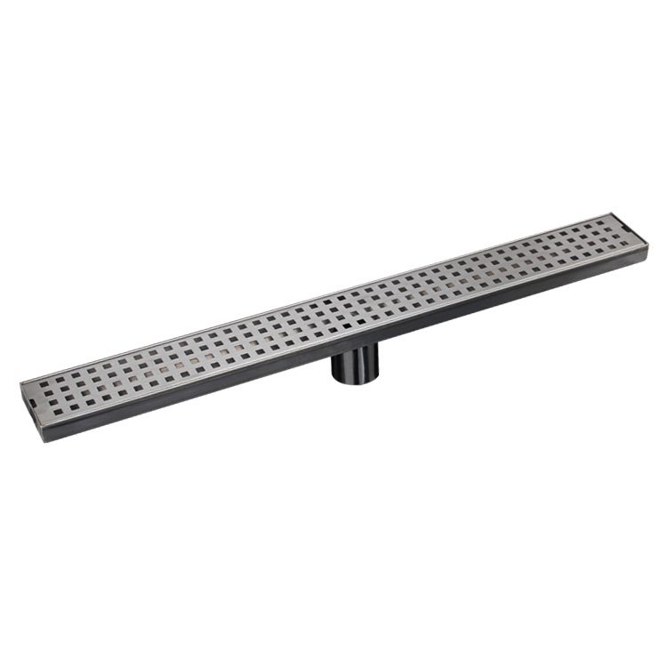 100CM  SUS 304 stainless steel sheet is inserted straight floor shower drain, large flow shower channel drain
