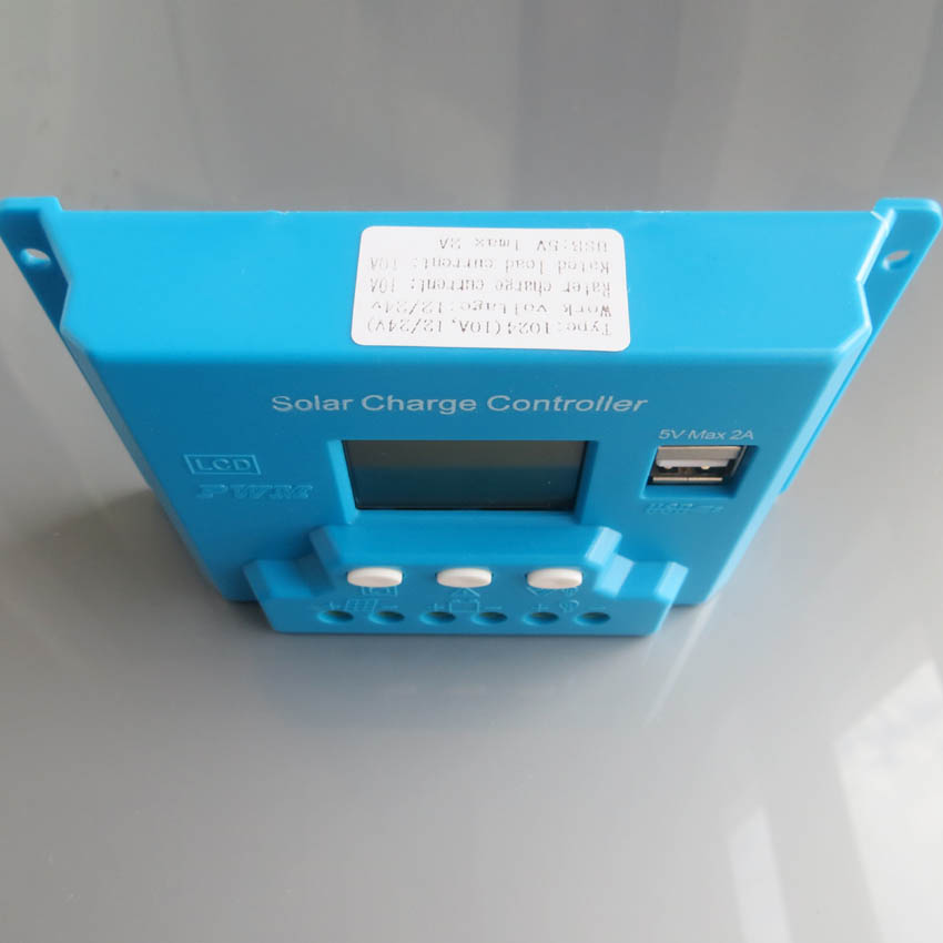 New type 10A 12V 24V intelligence Solar cells Panel Battery Charge Controller Regulators LCD 5V USB voltage adjustable