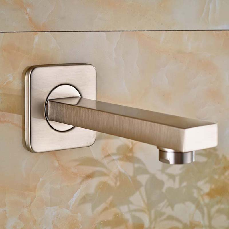 Wholesale And Retail Brushed Nickel Wall Mounted Bathroom Tub Spout Square Tub Spout Only The Spout