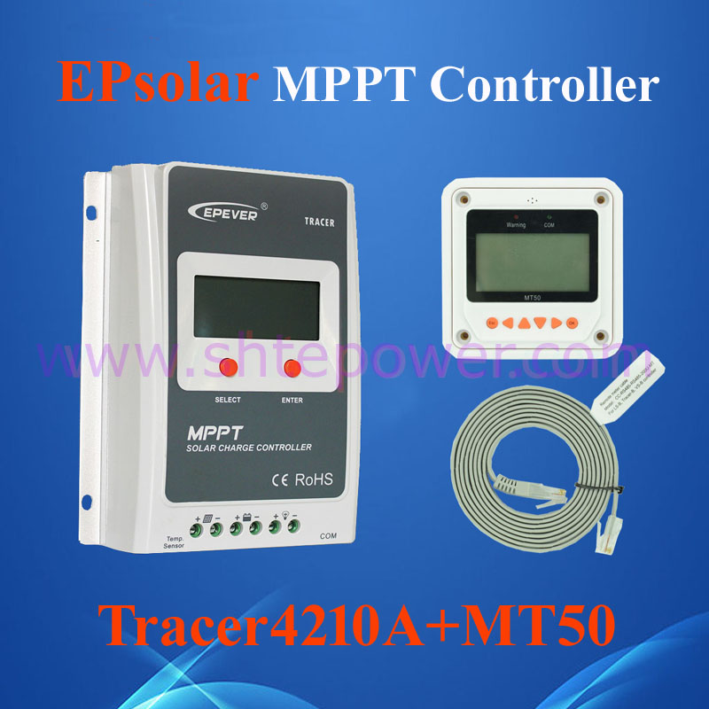 EPsolar Best quality Mppt 12volts 24 volts auto work 40a lcd solar controller Tracer4210A