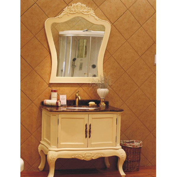 cabinet bathroom furniture Italian Quality Antique White Noble Bathroom Set OP11-P01B