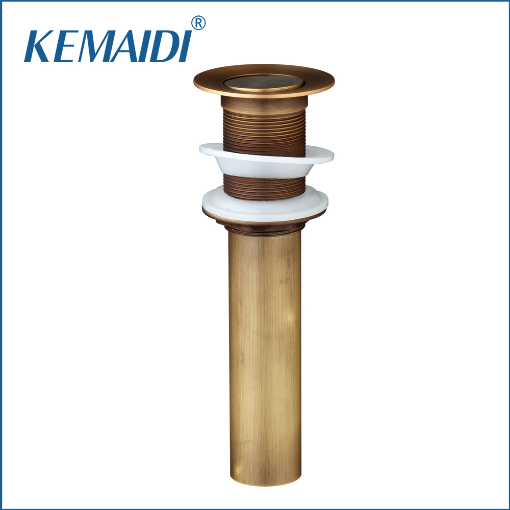 KEMAIDI Antique Brass 5707-1 Brand Drain New Brand Retro Bathroom/Kitchen Sink W/O Overflow Drain Floor Drain Bath Drains