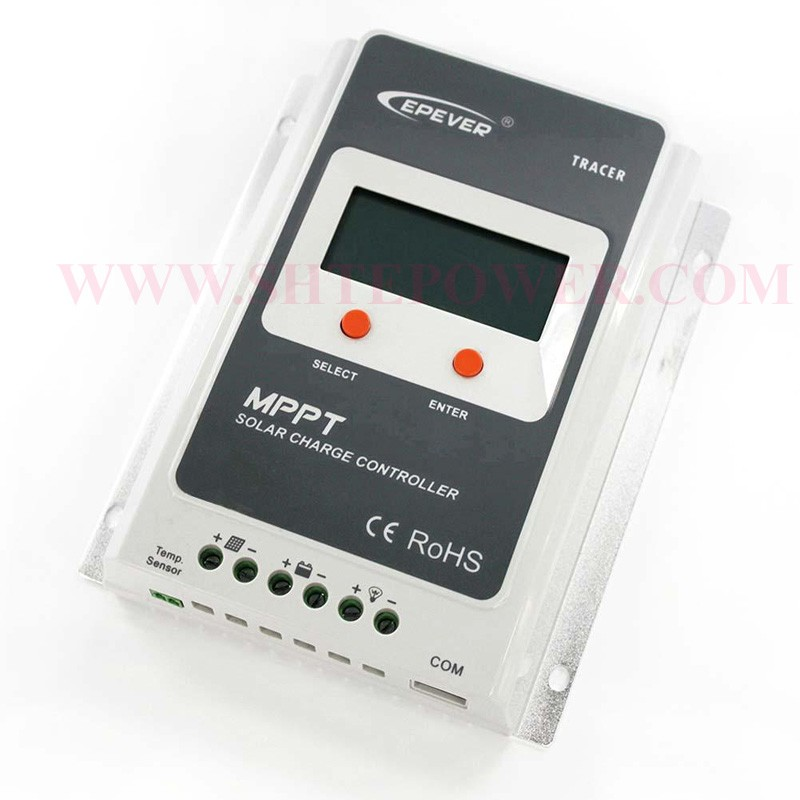 mppt control 40 amp 24 volt solar panel controller with USB and sensor