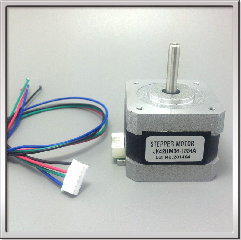 0.9 degree 42mm 2phase hybrid stepper motor 42HM34-1334A NEMA17 High-speed Bipolar Stepper Motor 2.2Kg.cm 1.33A 4-wire 3000rpm