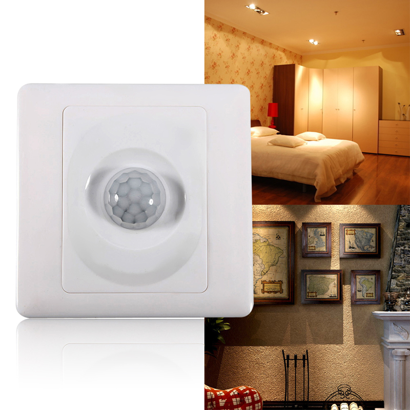 220V Infrared IR Body Induction Motion Sensor Auto Wall Mount Control Led Light Sensor Switch Energy-saving Automatic Module