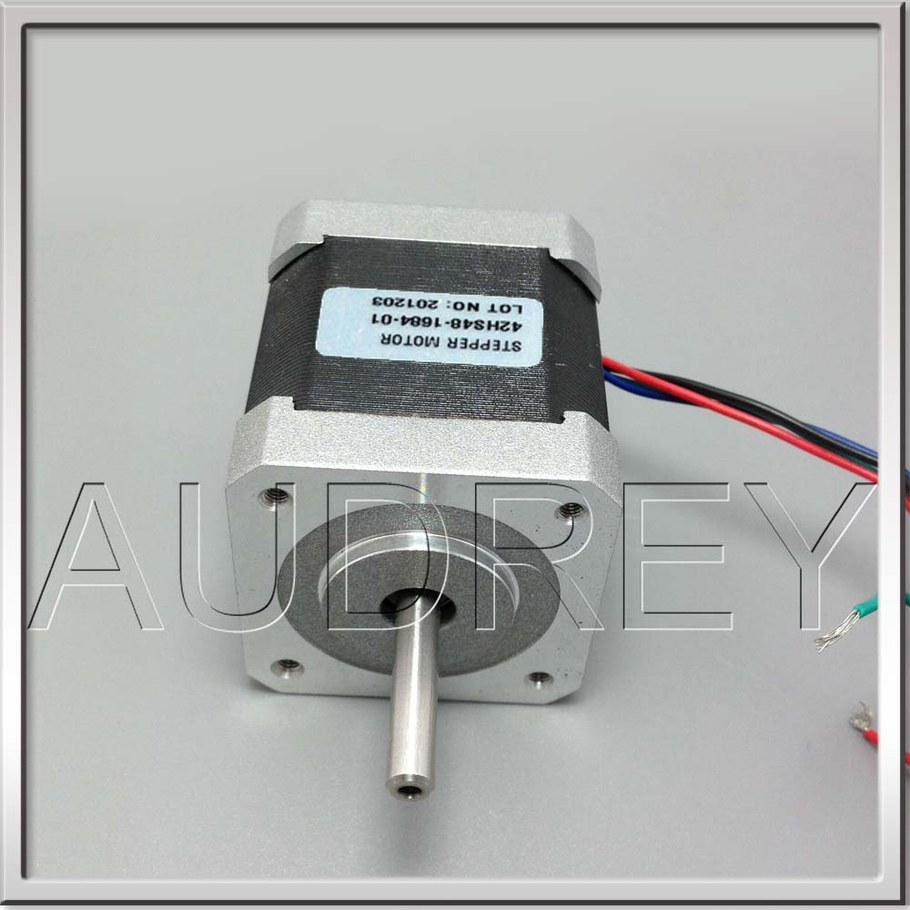 CE Rohs 42BYGH 2phase hybrid Nema17 Stepper Motor 1.68A  2.8V 4-lead 4.4Kg.cm  1.8degree 48 mm 3D printer motor CNC XYZ