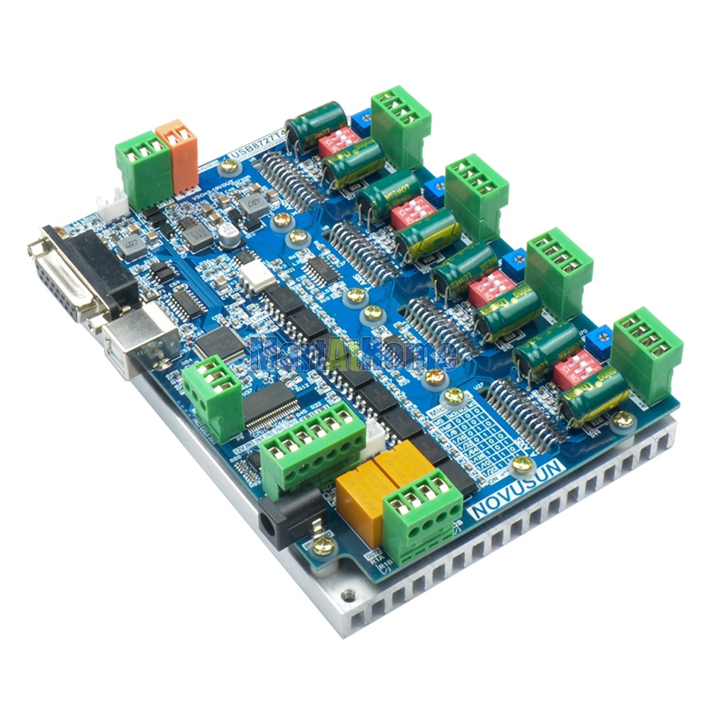 2in1 USB MACH3 4 Axis Stepper Driver Board & Control Board 200KHz 4A Support MPG #SM852 @SD