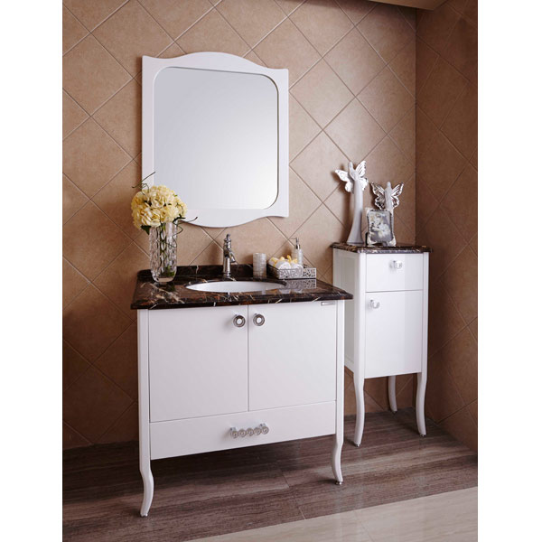 New Design Popular Italian Design Modern PVC Bathroom Cabinet OP14-015