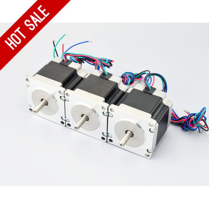 3PCS 1.26Nm/179oz.in Nema 23 Stepper Motor 2.8A 4-wires 6.35mm Shaft DIY CNC Router Mill