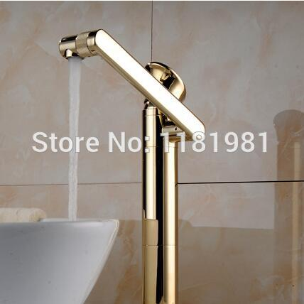 Europe Solid Brass  Luxury Gold  Rotate Hot&Cold Basin Mixer Taps OR-9