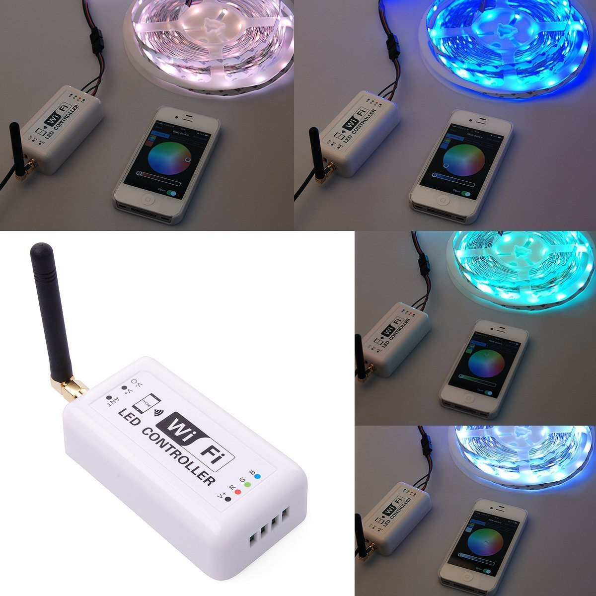 Estone Mobile Phone Smartphone Android Wireless WiFi RGB LED Controller For LED Strip