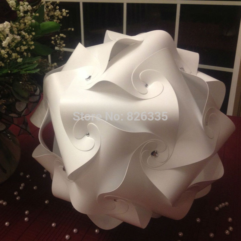 Home Puzzle Creative Jigsaw Celling Light  Bar Decoration M Size Lamp Shade Lampshade Design 30pcs