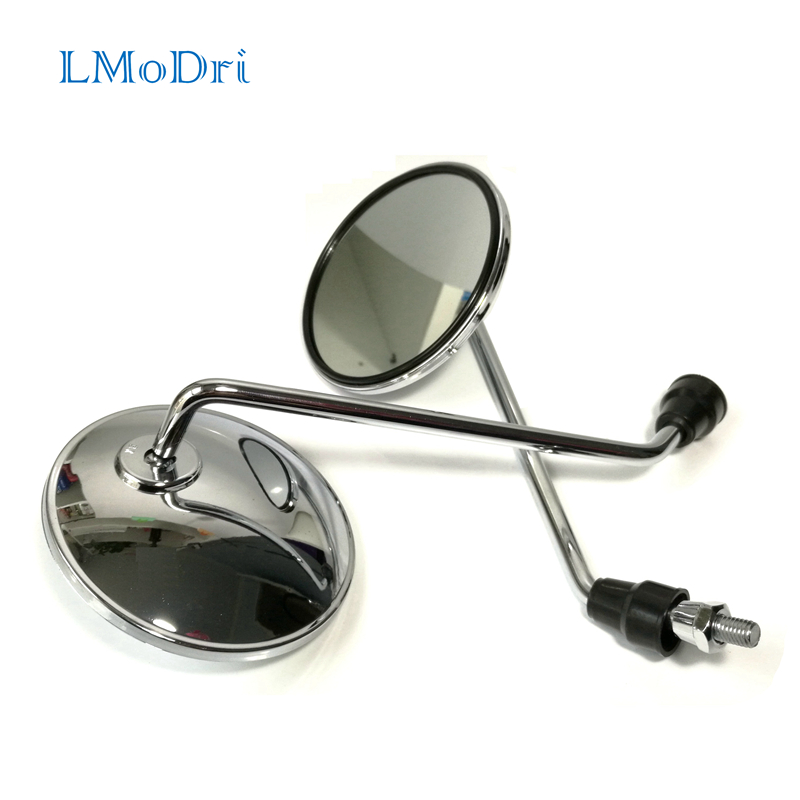 LMoDri Motorcycle Back View Mirror Electric Bicycle Rearview Mirrors Moped Side Mirror 8mm Round